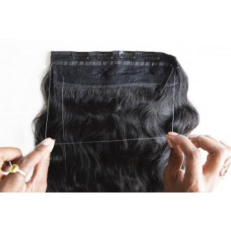 Extensión de hilo invisible color negro / natural